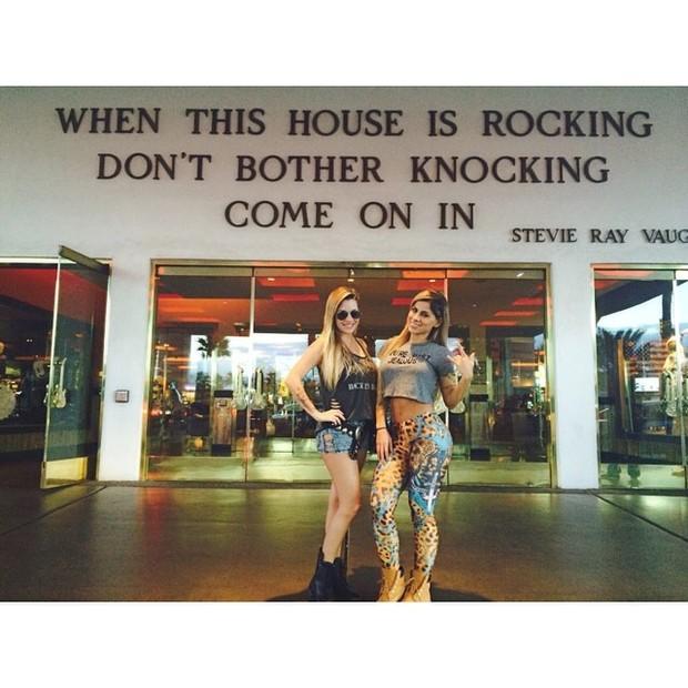 Ex-BBBs Clara e Vanessa em Las Vegas, nos Estados Unidos (Foto: Instagram/ Reprodução)