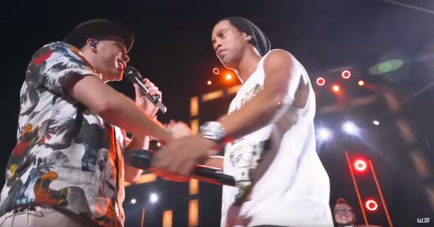 Wesley Safadão e Ronaldinho Gaúcho (Foto: Reprodução/ You Tube)