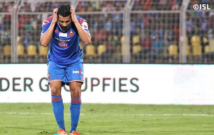 Andre Santos lamenta derrota do FC Goa (Foto: Divulgação / ISL)