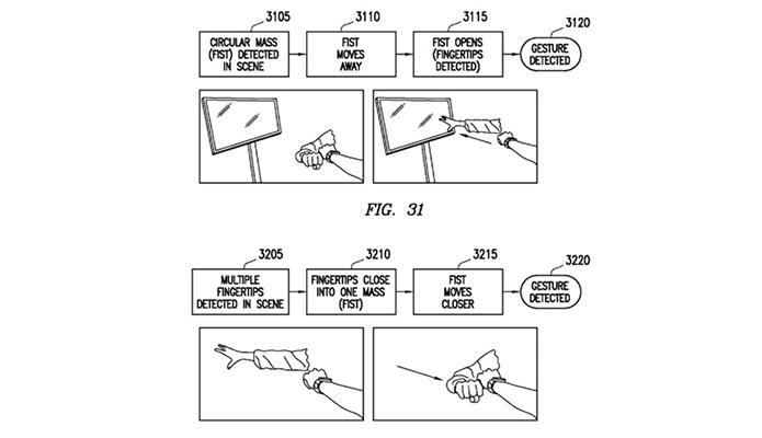 Documento mostra usuário controlando relógio com gestos no ar (Foto: Reprodução/Engadget)