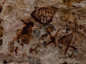 Pinturas rupestres no Vale do Catimbau. (Foto: Reprodução/ Buíque - Patrimônio, Identidade e Memória)