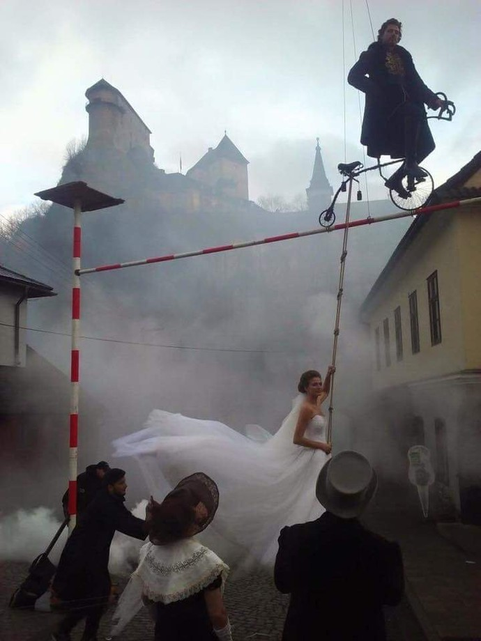 Sessão de fotos de casamento de Peter Sagan (Foto: Divulgação)