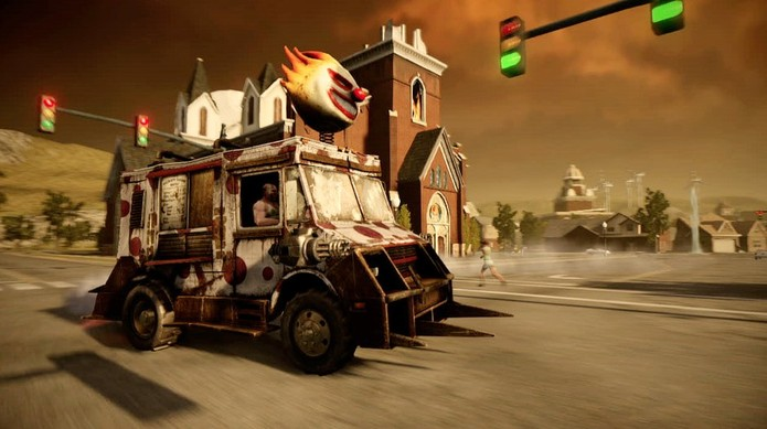 Todos os veículos de Twisted Metal estão altamente armados e querem destruição (Divulgação/Sony)