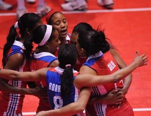 Seleção cubana no Pré-Olímpico de vôlei   (Foto: Divulgação Norceca)