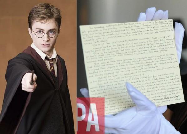O manuscrito de J.K. Rowling para uma história inédita de Harry Potter roubado na Inglaterra (Foto: Reprodução/Divulgação)