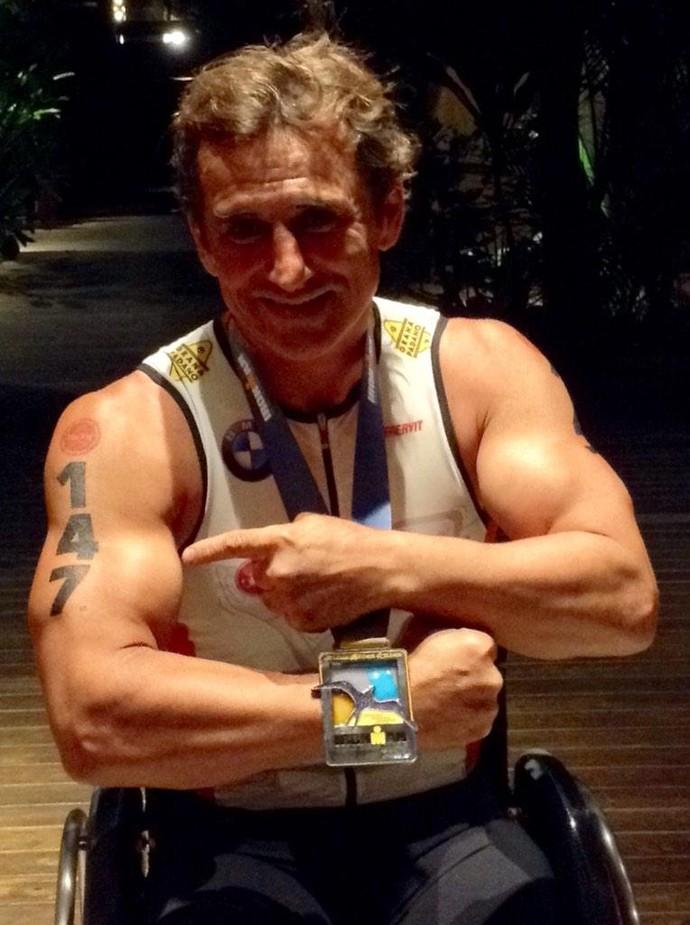 Alessandro Zanardi no Ironman do Havaí (Foto: Reprodução/Twitter)