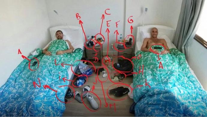 Ginobili no quarto da Vila (Foto: Reprodução)