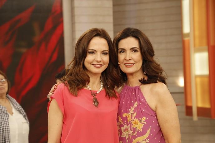 Fátima com a parceira Ligia Guerra (Foto: Raphael Dias/Gshow)