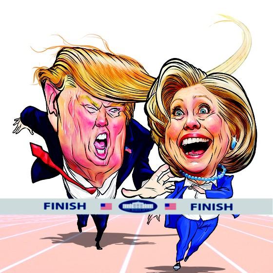 Hillary e Trump (Foto: Lézio Júnior)