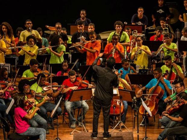 Concerto didático (Foto: Cassio Bittencourt/Divulgação )