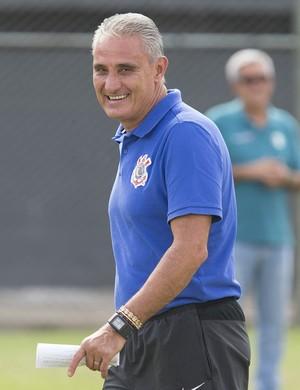 Tite Corinthians treino Paraguai (Foto: Daniel Augusto Jr. / Agência Corinthians)