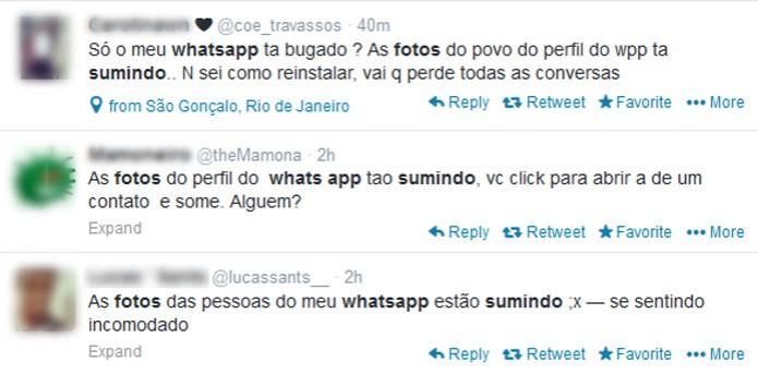 Bug no WhatsApp (Foto: Reprodução/ Twitter)