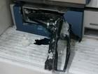 Ladrões explodem caixas eletrônicos de banco e fogem sem levar dinheiro