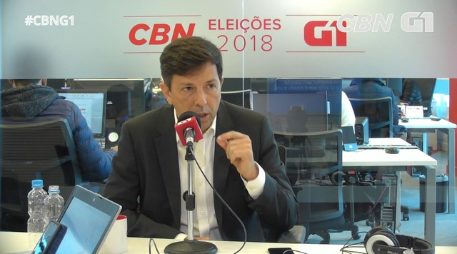 João Amoêdo responde a perguntas sobre o Monitor da Violência