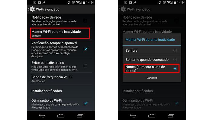 Desabilite o Wi-Fi durante inatividade (Foto: Reprodução/Paulo Alves)