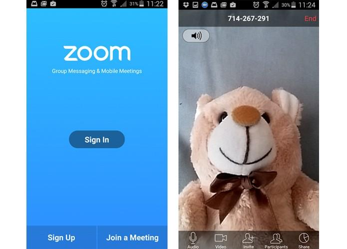 Zoom.us é mais voltado para conferências profissionais (Foto: Reprodução/Barbara Mannara)