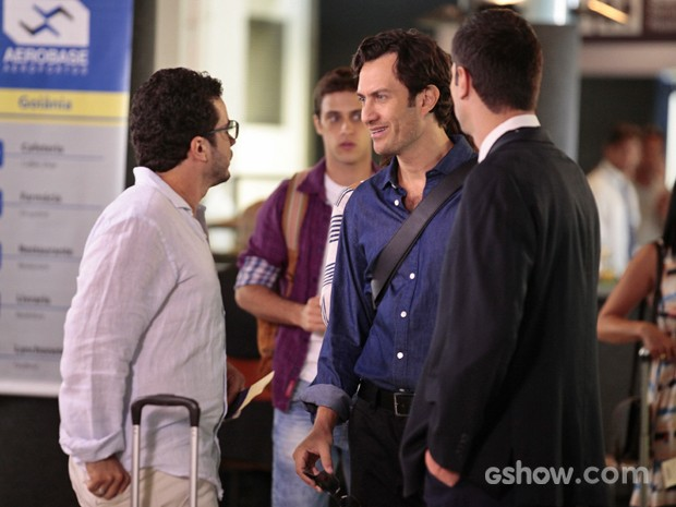 Laerte diz que é primo de Felipe mas ele não o reconhece (Foto: Pedro Curi/ TV Globo)