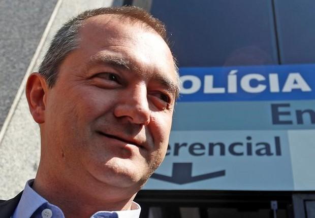 Joesley Batista deixa sede da Polícia Federal após testemunhar em São Paulo (Foto: Leonardo Benassatto/Reuters)