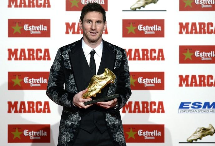 Messi prêmio chuteira de ouro Marca (Foto: AFP)