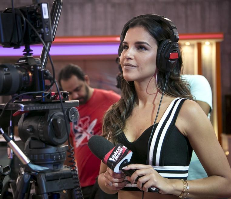 Mariana Rios toda linda nos bastidores do 'The Voice Brasil' (Foto: Isabella Pinheiro/Gshow)