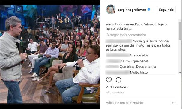 Serginho Groisman homenageia Paulo Silvino (Foto: Reprodução/Instagram)