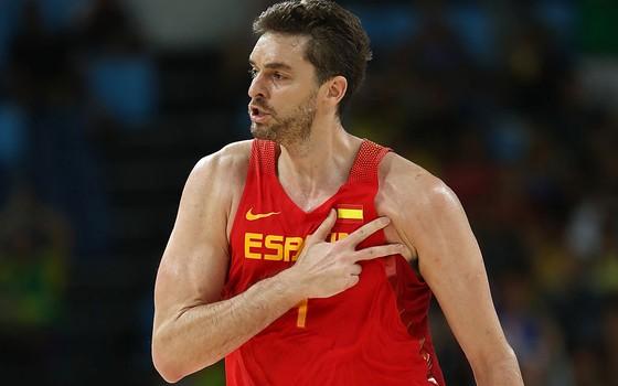 O jogador de basquete Pau Gasol, da Espanha (Foto:  Elsa/Getty Images)