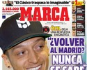"""""""Voltar ao Madrid? Nunca se sabe"""", despista Özil, que é capa de jornal"""