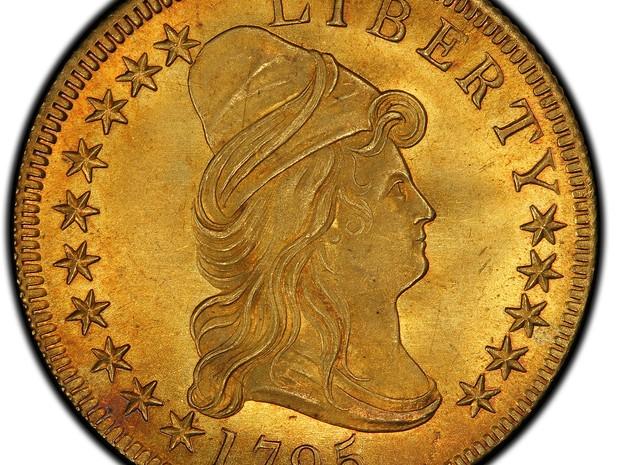 Moeda de ouro de US$ 10 pode superar US$ 1 milhão em leilão (Foto: Stack's Bowers Galleries/AP)