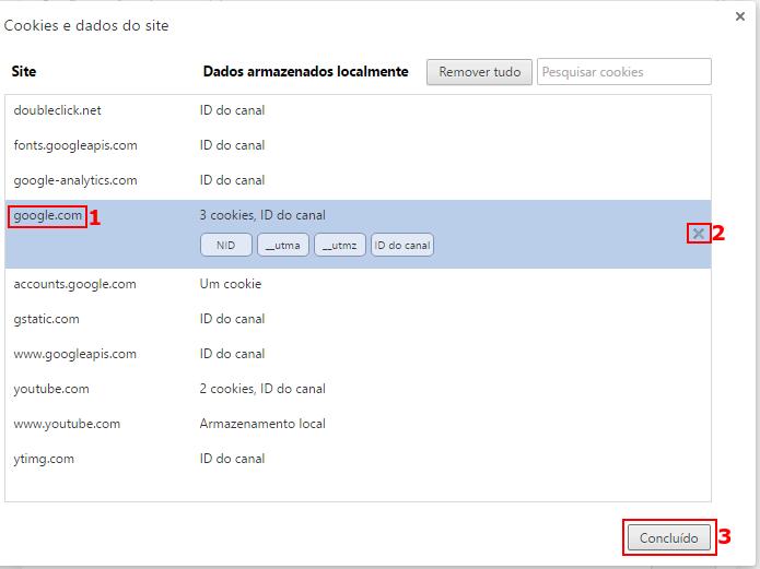 Apagando os cookies de um site no Google Chrome (Foto: Reprodução/Edivaldo Brito)