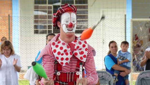 Palhaço Picolé foi a atração do evento (Foto: Divulgação/ RPC)