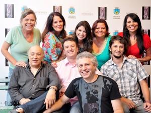 A comissão julgadora do Prêmio Maestro Guerra Peixe 2013, Petrópolis, RJ (Foto: RENNE RAIBOLT)