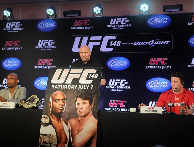 Coletiva, Anderson Silva x Sonnen, UFC (Foto: Alexandre Dur&#227;o / Globoesporte.com)