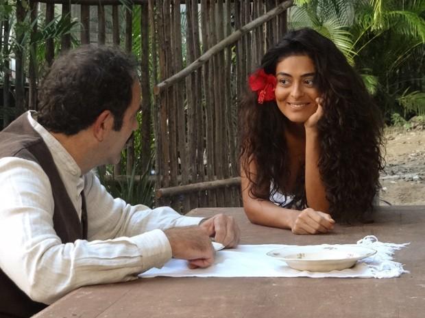 Gabriela observa Nacib (Foto: Gabriela/TV Globo)
