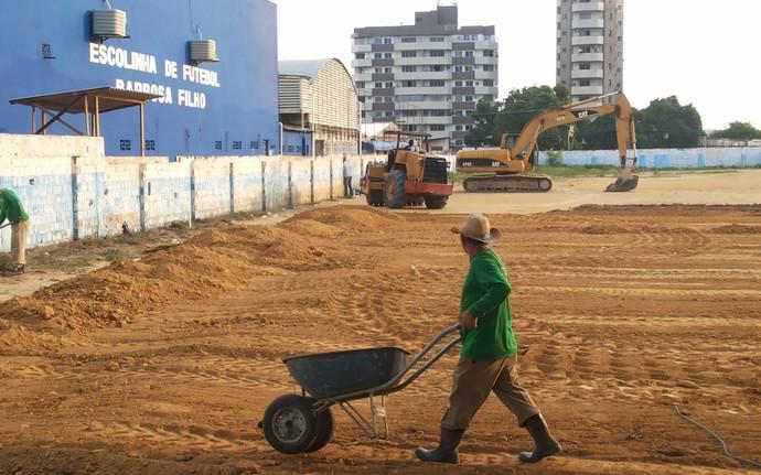 Campo academia de futebol do Nacional-AM (Foto: Divulgação/Nacional)