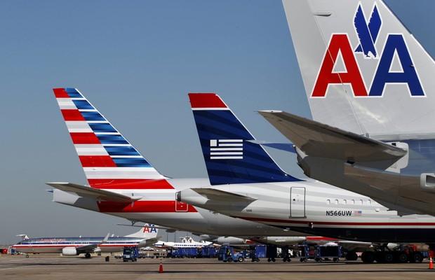 Aviões da companhia aérea americana American Airlines (Foto: Getty Images)