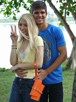 Matheus e Lais são Ricardo e Scarlett em fase jovem (Foto: Raphael Dias/ Gshow)