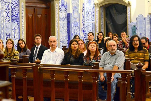 Amigos e familiares de Kid Vinil (Foto: Eduardo Martins/ Agnews)