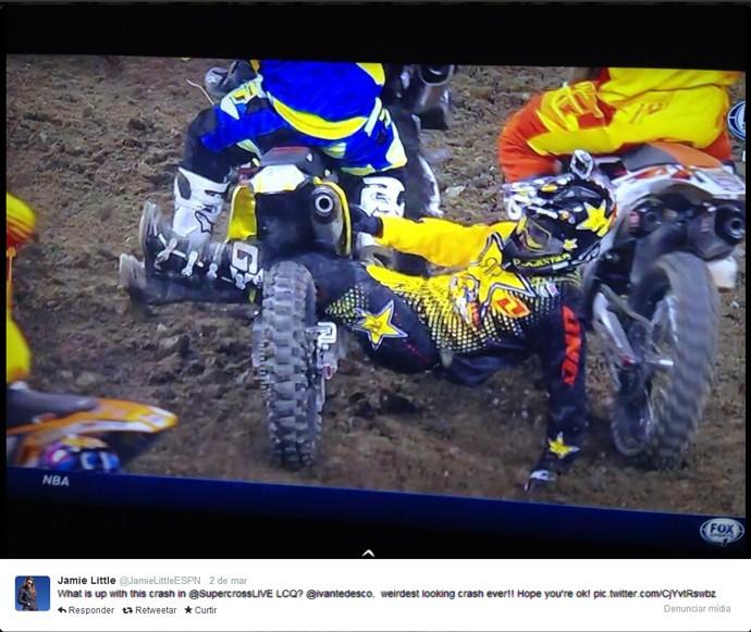Frame: Ivan Tedesco acidente Espn (Foto: Reprodução / Twitter)
