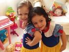 Tânia Mara posta foto da filha Maysa fantasiada de Branca de Neve
