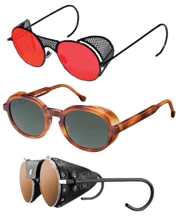 ace12a337aed1 Se você gosta de estar  na moda  mas sabe que nem toda moda foi feita para  o seu estilo de vida  ADAPTE! O DNA dos óculos glaciais é aquela proteção  lateral ...
