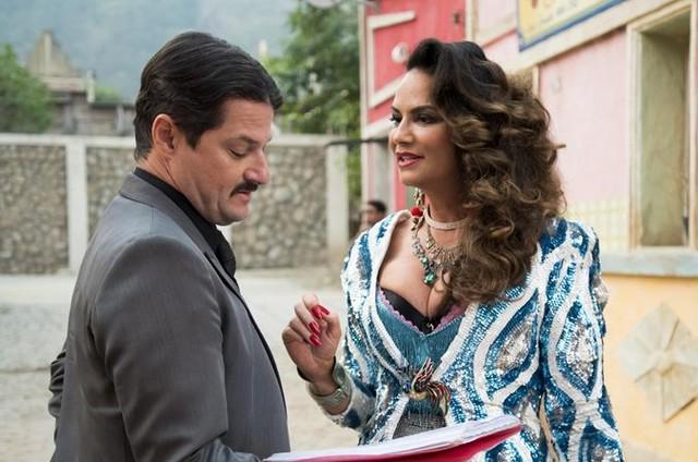 Marcelo Serrado e Luiza Brunet (Foto: Cesar Alves/TV Globo)