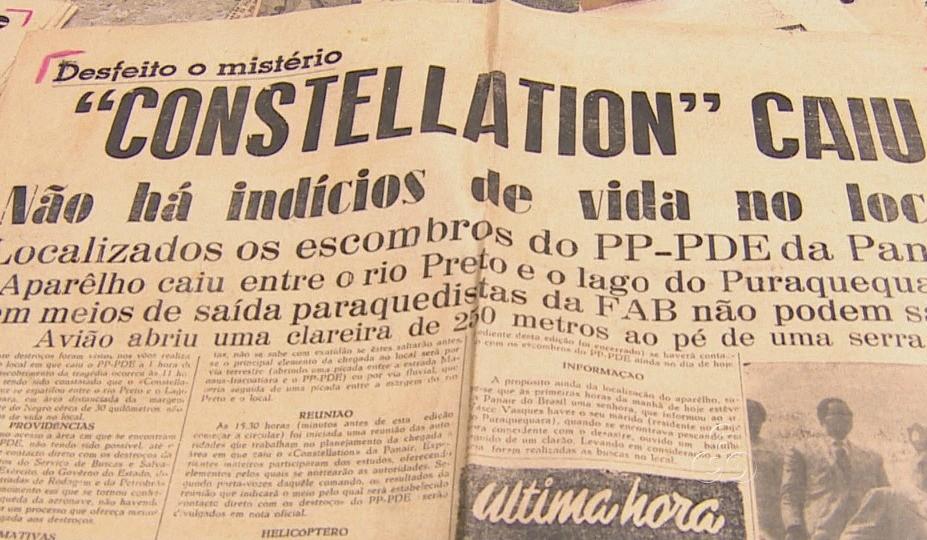 Acidente foi notícia nos principais jornais da época (Foto: Amazônia TV)