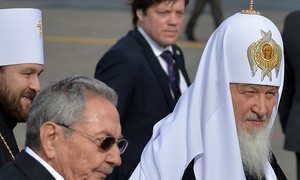 Patriarca da Igreja Ortodoxa chega a Cuba e é recebido por Raúl Castro