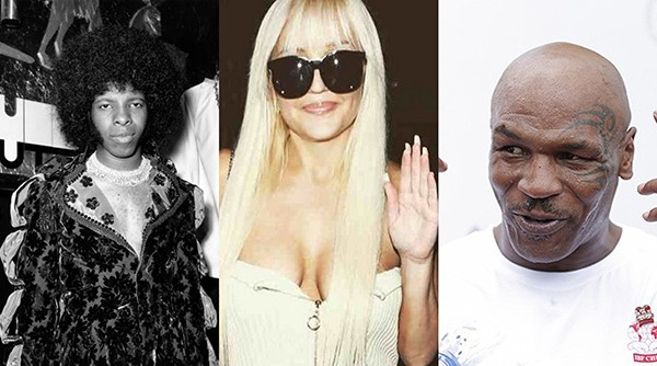 Sly Stone, Amanda Bynes e Mike Tyson (Foto: Getty Images)