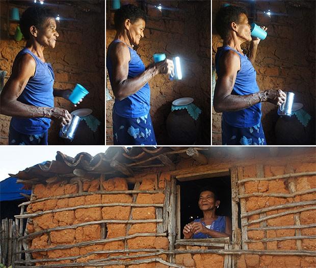 Rita Maria de Jesus, de 65 anos, ainda luta na roça para colher o que come (Foto: Anderson Barbosa/G1)