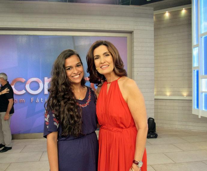A apresentadora e uma convidada do programa  (Foto: Priscilla Massena/Gshow)