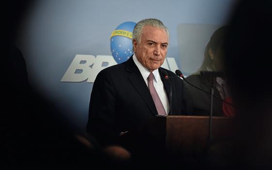 Temer responde a denúncia de Janot.O presidente perdeu a compostura e transformou a questão numa rinha de galo (Foto: Ricardo Botelho/Brazil Photo Press)