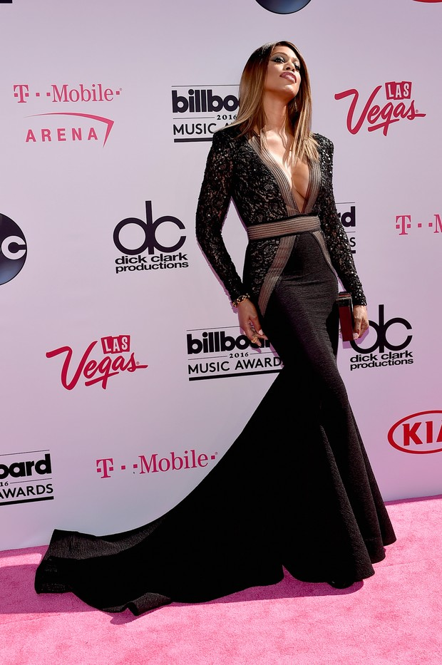 Laverne Cox no Billboard Music Awards (Foto: AFP)