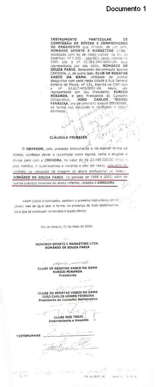 Documento Vasco 1 (Foto: GloboEsporte.com)