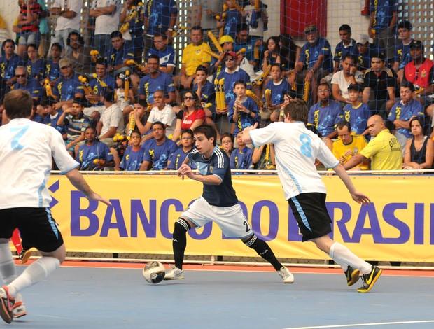 Argentina vence Uruguai pelo Sul-Americano de Futsal (Foto: Luciano Bergamaschi/CBFS)